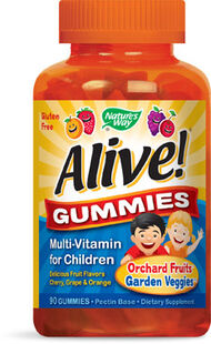 Nature's Way Alive Multi-Vitamin Gummies for Children 90 Gummies Cherry. Grape, Orange