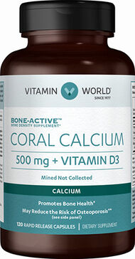 Vitamin World Coral Calcium Complex 500 mg. 120 Capsules