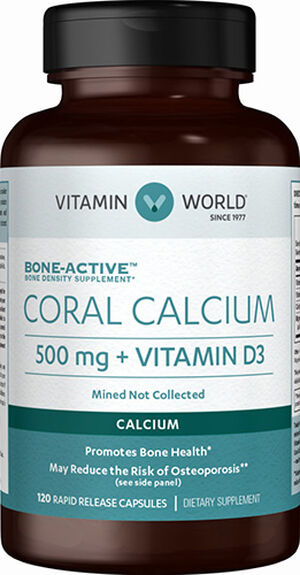 Vitamin World Coral Calcium Complex 500mg 120 Capsules 500mg