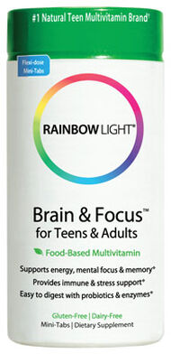 Rainbow Light Brain & Focus for Teens & Adults 90 Tablets Vegetable Juice