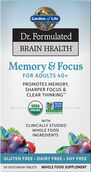 Garden of Life Dr. Formulated Brain Health Memory & Focus for Adults 40+