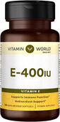 Vitamin World Vitamin E 400 IU 100 Softgels