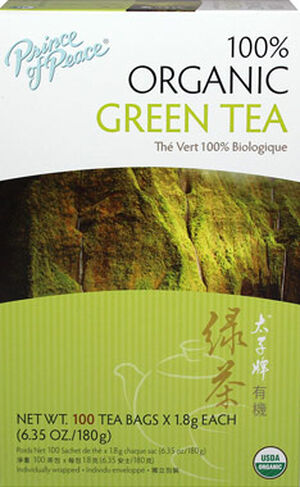 Prince of Peace 100% Organic Green Tea 100 Tea Bags