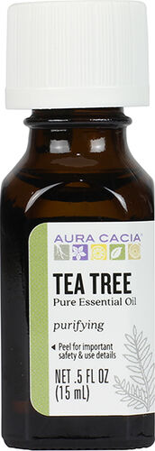 Aura Cacia Tea Tree Essential Oil 0.5 oz. Liquid