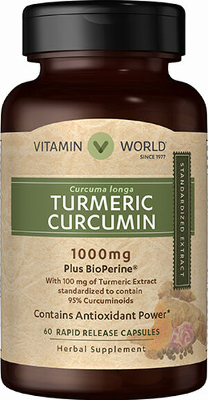 Vitamin World Turmeric Curcumin 1000 mg 60 Capsules 1000mg
