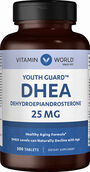 Vitamin World DHEA 25mg 500 Tablets 25mg.