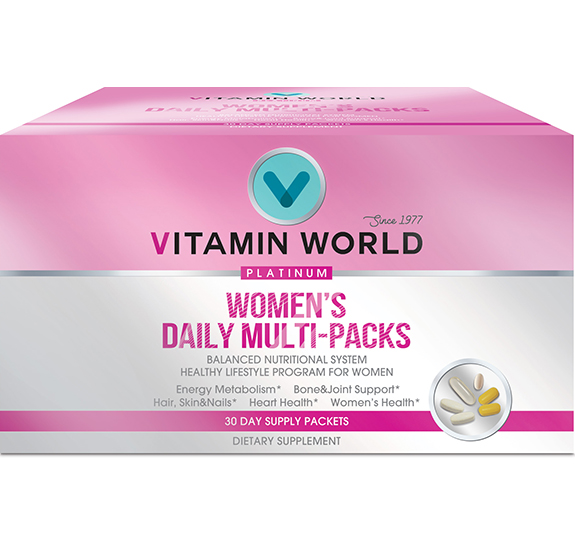 Vitamin World® Platinum Women's Daily Vitamins Multi-Packs