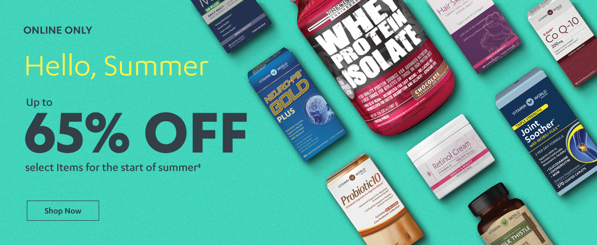 Up to 65% off Summer Savings-