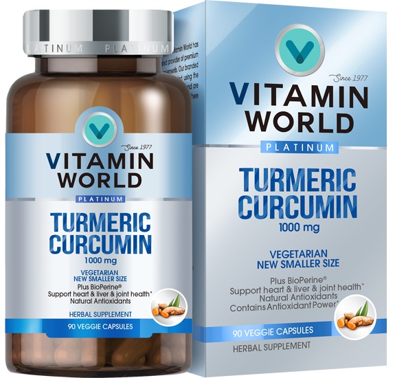 Vitamin World® Platinum Turmeric Curcumin 1000mg