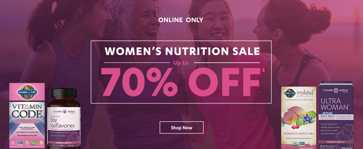 Rotator 4 - Women's Nutrition Up to 70% off