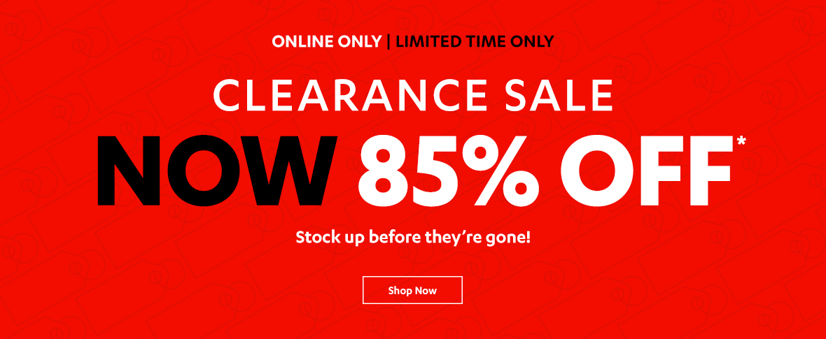 85% off Clearance