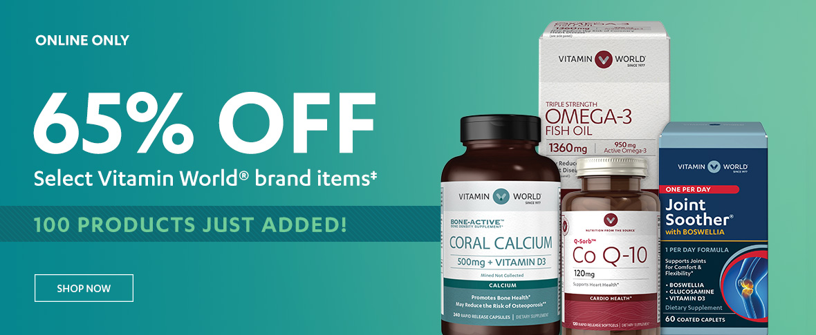 Rotator 1 - 65% off Vitamin World Brand
