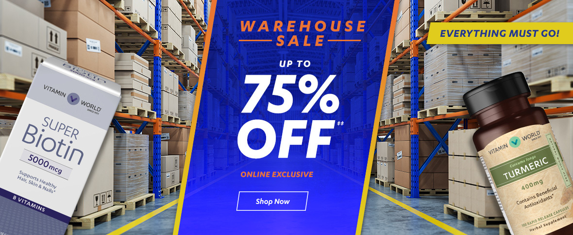 Rotator 3 - Warehouse Sale Up to 75% off on Select Wellness
