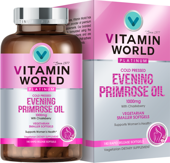 Vitamin World® Platinum Evening Primrose Oil 1000mg