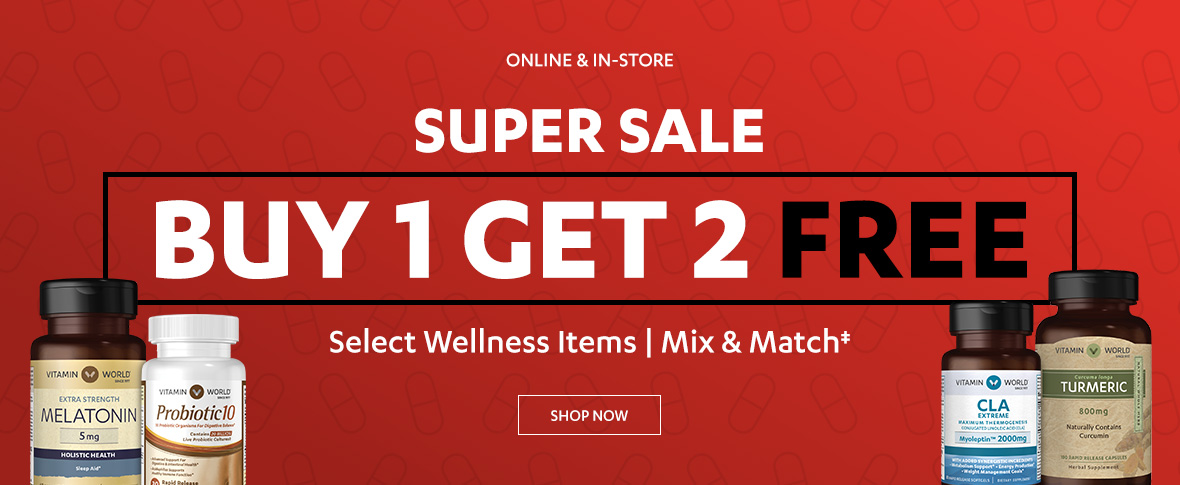 Rotator 2 - Buy 1 Get 2 Free on Select Wellness Items