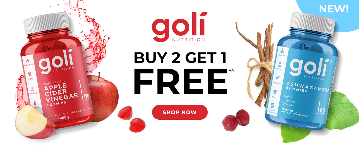 Rotator 1 - Buy 2 Get 1 Goli Apple Cider Vinegar Gummies and Ashwagandha Gummies