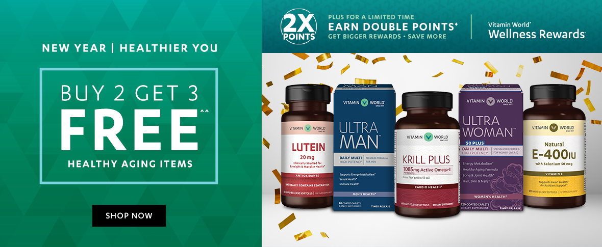 Rotator 1 - Buy 2 Get 3 Free Healthy Aging Items