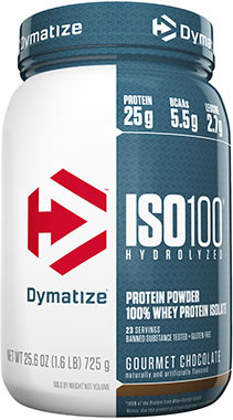 ISO-100® Whey Protein Isolate Gourmet Chocolate 1.6 lbs.