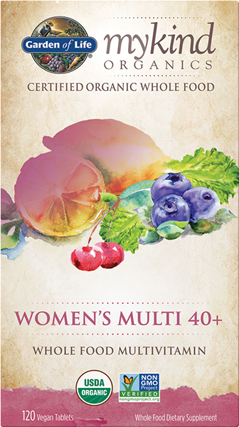 mykind Organics Women's Multivitamins 40+ VW.W/O KIND WOMENS 40+.120 CT.