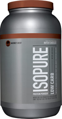 Isopure Low Carb Whey Protein Isolate Dutch Chocolate 3 lbs.
