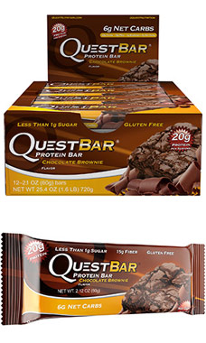 Quest Bars Chocolate Brownie VW.QUEST CHOC BROWNIE.12 CT.FO
