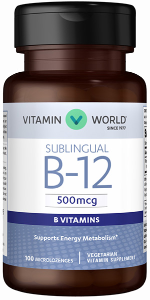 Vitamin B-12 500 mcg. Sublingual
