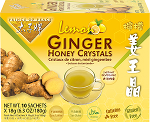 Ginger Honey Crystals with Lemon Instant Tea