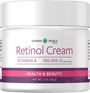 retinol cream 100 000 iu at vitamin world. Black Bedroom Furniture Sets. Home Design Ideas