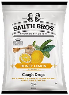 Smith Brothers Cough Drops Honey Lemon