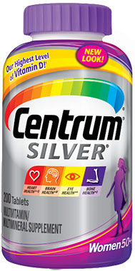 Centrum® Silver® Women 50 Plus Multivitamins CENTRUM SLVR WMN 200