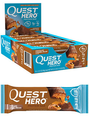 Купить со скидкой Quest Hero Protein Bars Chocolate Caramel Pecan