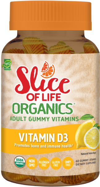 Slice of Life Organics Vitamin D3 Adult Gummy Vitamins