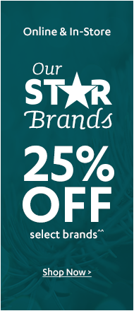 25% off Top Brands Sale