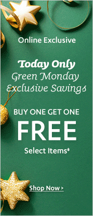 Green Monday BOGO Free Sale