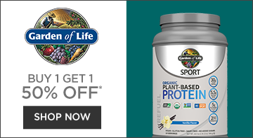 Mobile Buy 1 get 1 50% off select garden of life