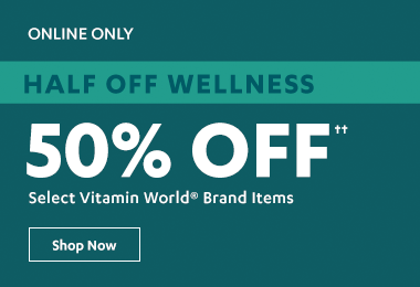50% off Select Vitamin World Brands