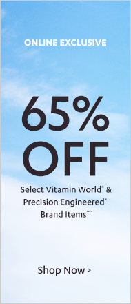65% off Vitamin World & Precision Engineered< Sale