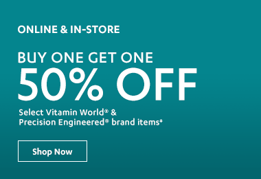 BOGO 50% Off Vitamin World & Precision Engineered