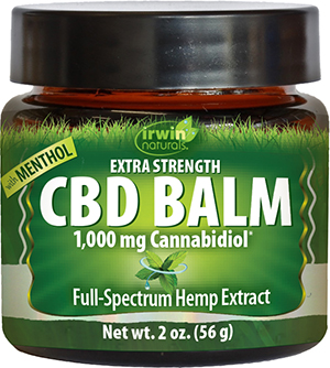30% off Topical CBD Balms from Irwin Naturals