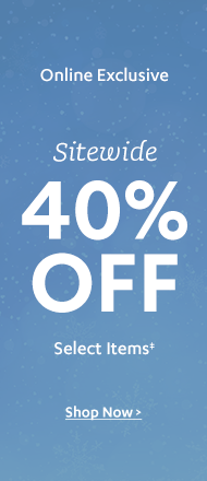 40% off Sitewide Sale