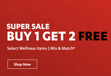 Buy 1 Get 2 Free on Select Wellness Items